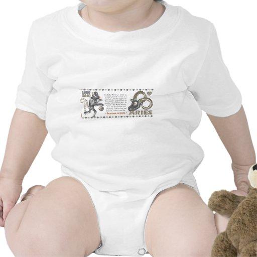 Aries llevado zodiaco el an o 80 del mono del traje de bebé