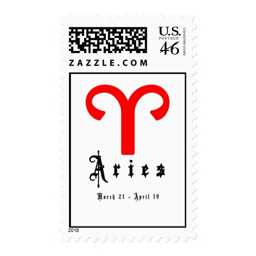 Aries, March 21 - April 19 Postage Stamp