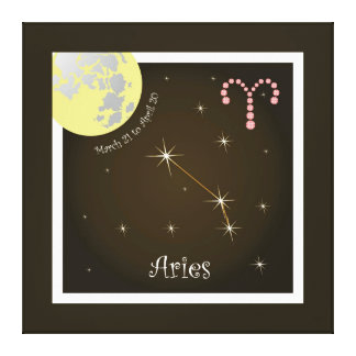 Aries March 21 tons of April 20 canvas Stretched Canvas Prints