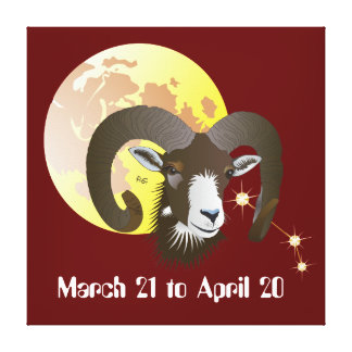 Aries March 21 tons of April 20 Canvas