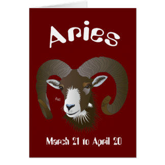 Aries March 21 tons of April 20 map Card