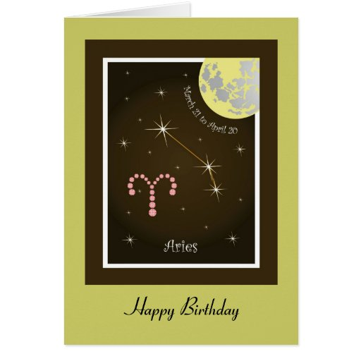 Aries March 21 tons of April 20 map Greeting Cards