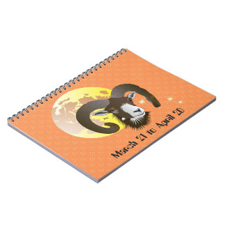 Aries March 21 tons of April 20 note booklet Spiral Notebook