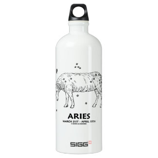 Aries (March 21st - April 19th) Water Bottle