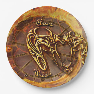 Aries March 21st until April 20th Horoscope Paper Plate