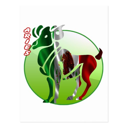 ARIES MEXICO HOROSCOPES PRODUCTS POST CARD