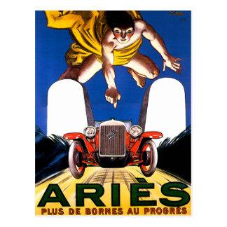 Aries Motorcar ~ Vintage Touring Car Advertisement Postcard