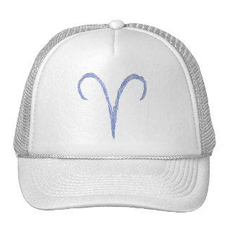 Aries Muestra astrológica del zodiaco Azul Gorros Bordados