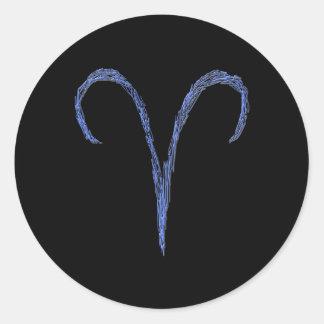 Aries. Muestra de la astrología del zodiaco Pegatinas Redondas