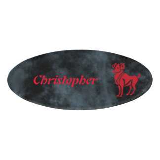 Aries Name Tag