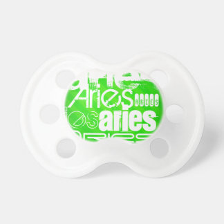 Aries; Neon Green Stripes BooginHead Pacifier