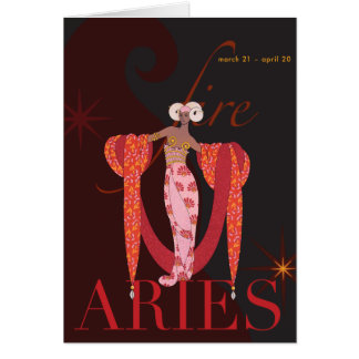 Aries Note Greeting Card