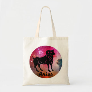 Aries On Space Background Tote Bag