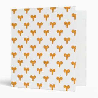 Aries Pattern Orange Binders