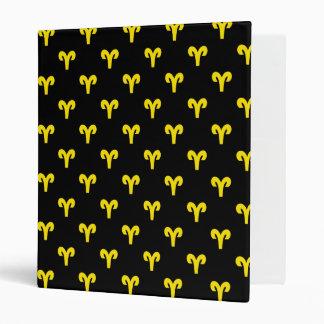 Aries Pattern Yellow 3 Ring Binders