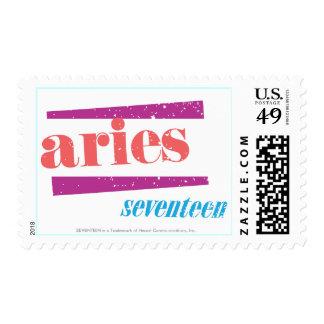 Aries Pink Stamp