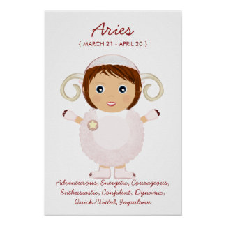 Aries - poster del horóscopo del chica