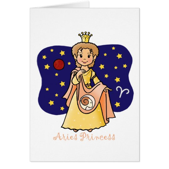 Aries Princess Card