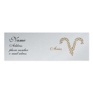 aries protagonizado de la tarjeta tarjetas de visita mini