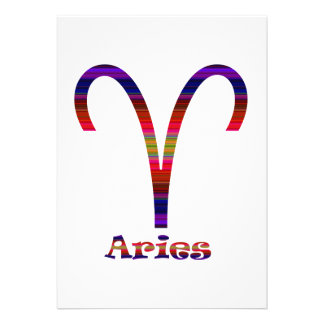 Aries Psychedelic Personalized Invite