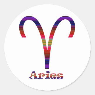 Aries Psychedelic Round Sticker