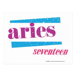 Aries Purple Postcard