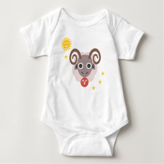 Aries ram baby bodysuit - zodiac star sign