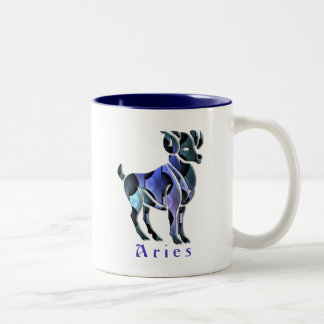 Aries Ram Coffee Cup Two-Tone Coffee Mug