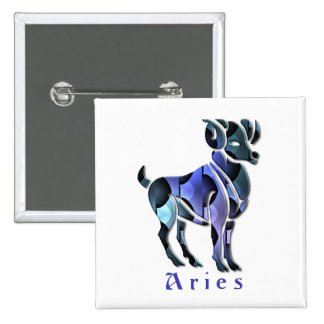 Aries Ram Square Pin