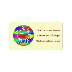 Aries Ram Star Sign Rainbow Name Tag Gift Tag at Zazzle