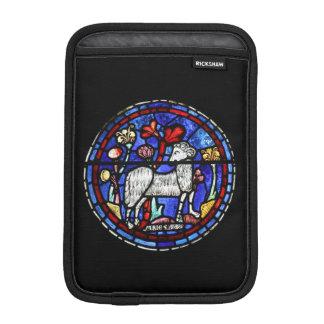Aries Ram Year - Stained Glass - Rickshaw Sleeve Sleeve For iPad Mini
