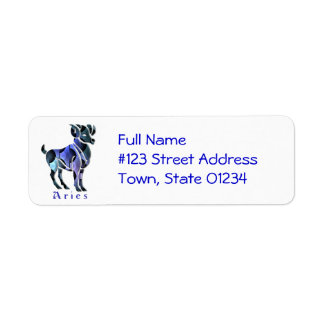 Aries Ram Zodiac Return Address Label