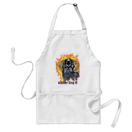 Aries Raven watercolor Adult Apron