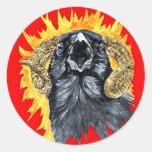 Aries Raven watercolor Sticker