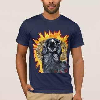Aries Raven watercolor T-Shirt