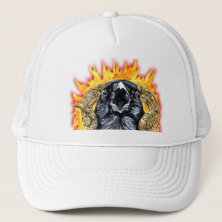 Aries Raven watercolor Trucker Hat