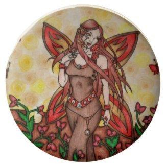 Aries red Fairy Art for a Birthday Chocolate Covered Oreo