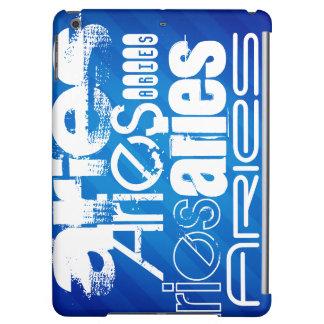 Aries; Royal Blue Stripes iPad Air Cases
