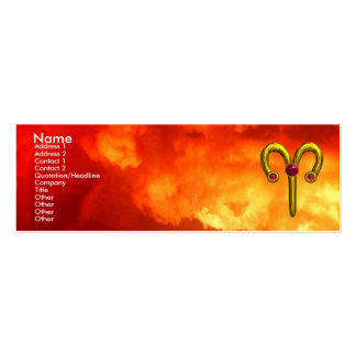 ARIES ,  ruby  yellow red Business Card Template