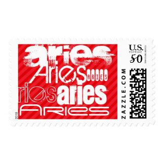 Aries; Scarlet Red Stripes Postage
