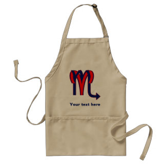 Aries & Scorpio Adult Apron