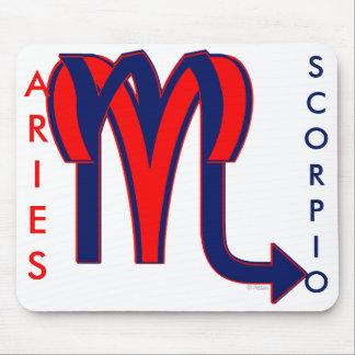 Aries & Scorpio Mouse Pad