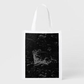 Aries Sign Constellation Hevelius circa 1690 Grocery Bag