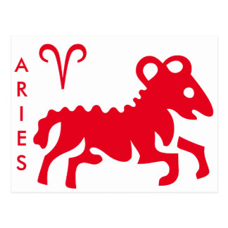 Aries Sign & Symbol Postcard