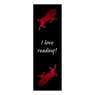 Aries Silhouette Bookmark Cards Double-Sided Mini Business Cards (Pack Of 20)