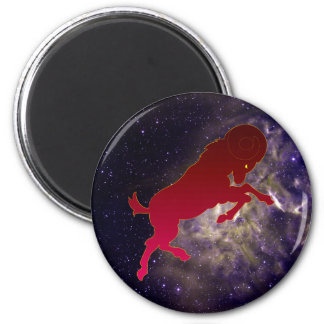 Aries Silhouette Magnet