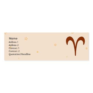 Aries - Skinny Mini Business Card
