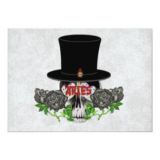 Aries Skull 5x7 Paper Invitation Card