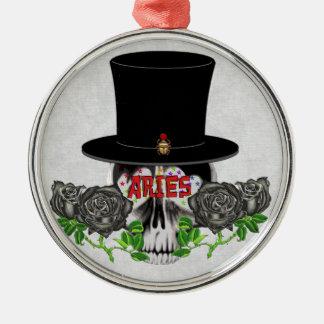 Aries Skull Metal Ornament