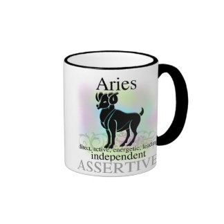 Aries sobre usted taza de café